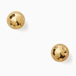 NWT~KATE SPADE~Classic Gold Earring Ball Studs